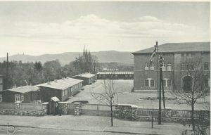 KZ außenlager roßla, links die unterkunftsbaracken
